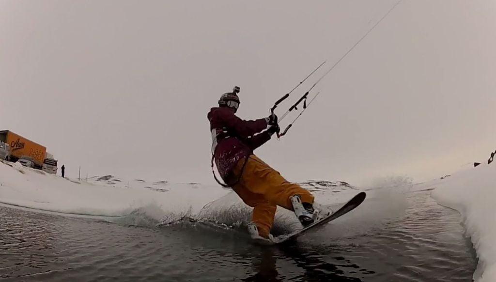 snowkite in norway