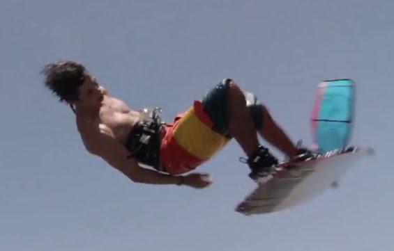 Belgian kitesurf rider - Christophe Tack