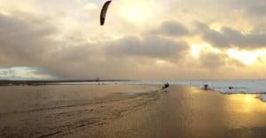 Snowkite-kitesurf