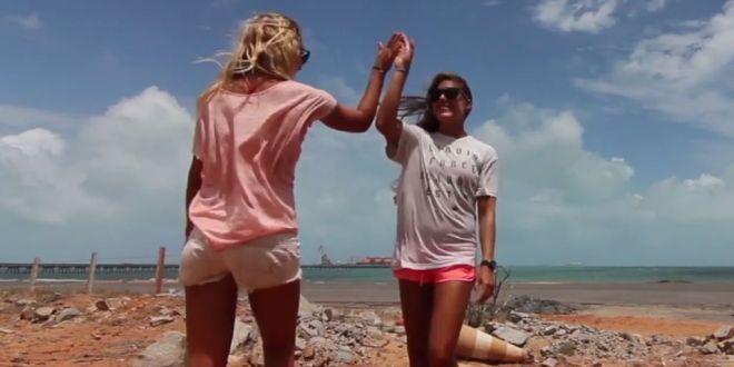 Friday Kitesurf Babe – Colleen Carroll and Sensi Graves