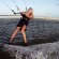 Friday Kitesurf Babe – Hannah Whiteley – Extreme high heel Kitesurfing